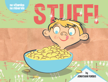 An illustration of the children's picture book STUFF by Jonathan Fenske