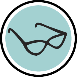 An icon of black glasses for The Penzy blog by Jonathan Fenske