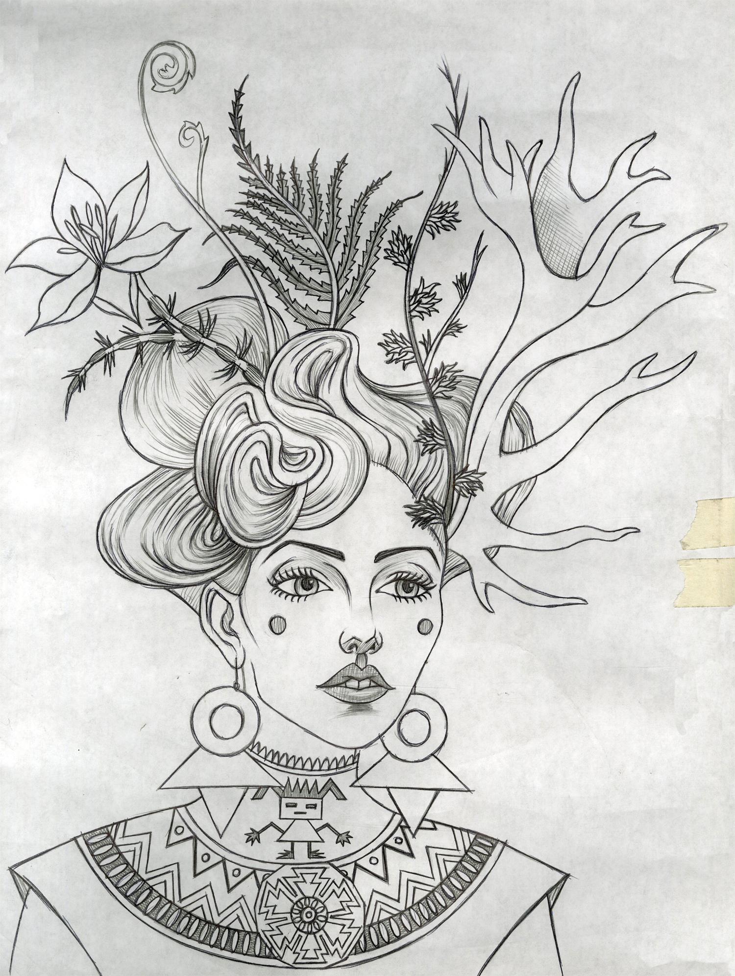 Alstromeria (Drawing)