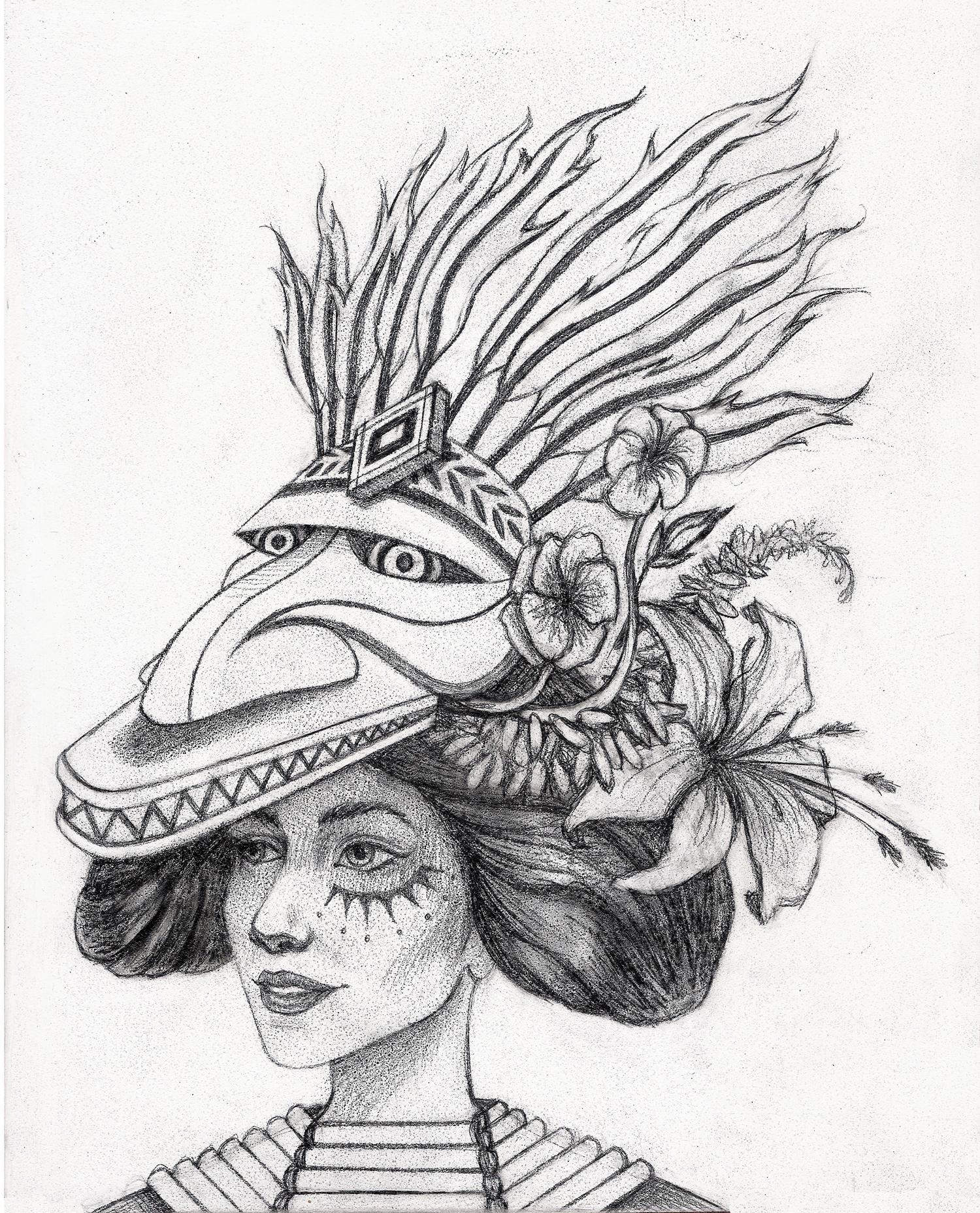 Healer of Beasts (Drawing)