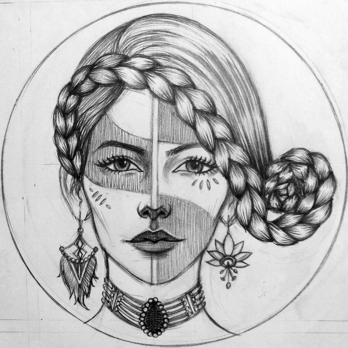 Plumeria (Drawing)