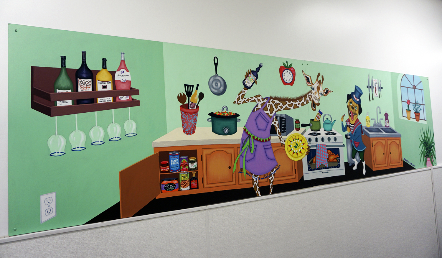 Party in the Kitchen - Acrylic paint on Wall 2017