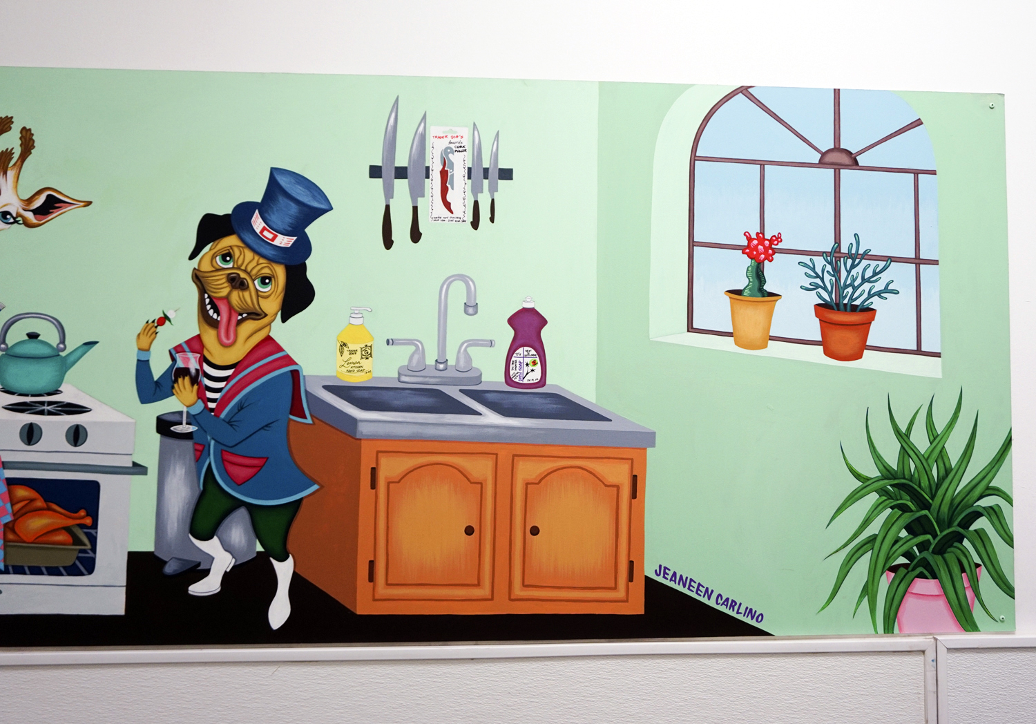 2017-Jeaneen Carlino-Mural Art-Painting-Party in the Kitchen-4.jpg