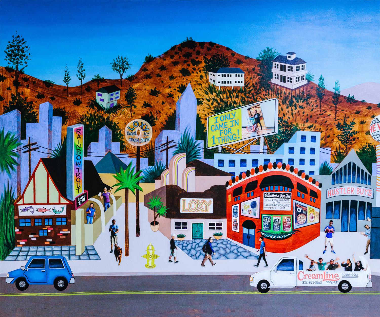 TJ's Sunset Strip - Acrylic paint on Wall 2016