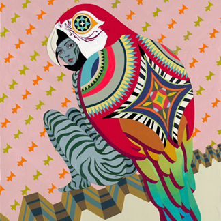 2009-Jeaneen Carlino-Tribal Narratives-Painting-Avis Idiom-SQ.jpg