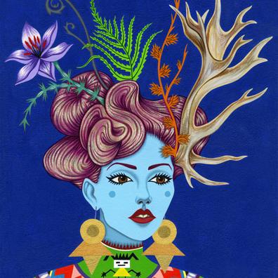 2013-Jeaneen Carlino-Modern Divinities-Painting-Alstromeria-SQ.jpg