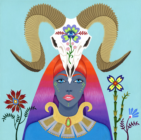 2013-Jeaneen Carlino-Modern Divinities-Painting-Argali Nymph-small.jpg