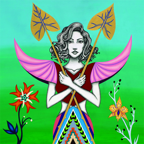 2014-Jeaneen Carlino-Tribal Narratives-Painting-Azalea the Guardian-SQ.jpg