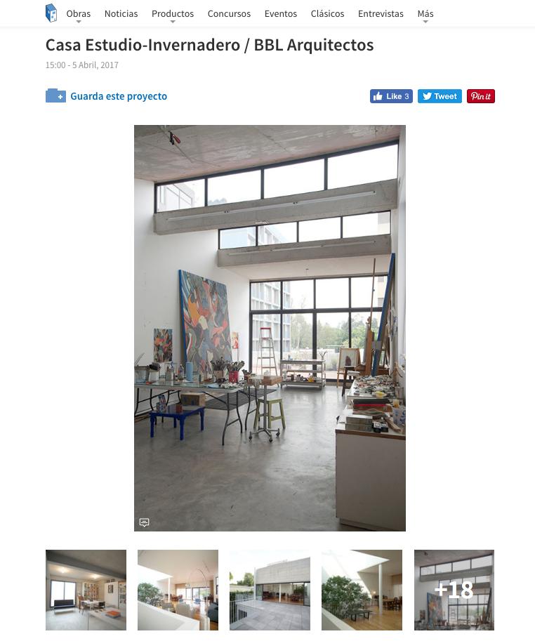 bbl arquitectos casa estudio invernadero archdaily