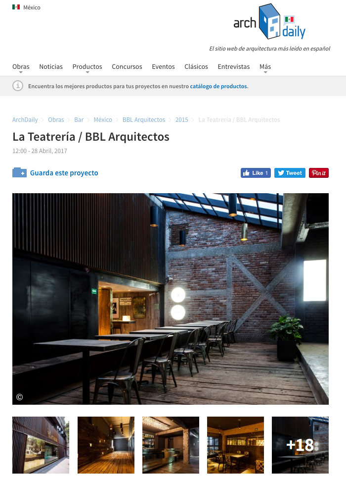 archdaily bbl arquitectos la teatreria