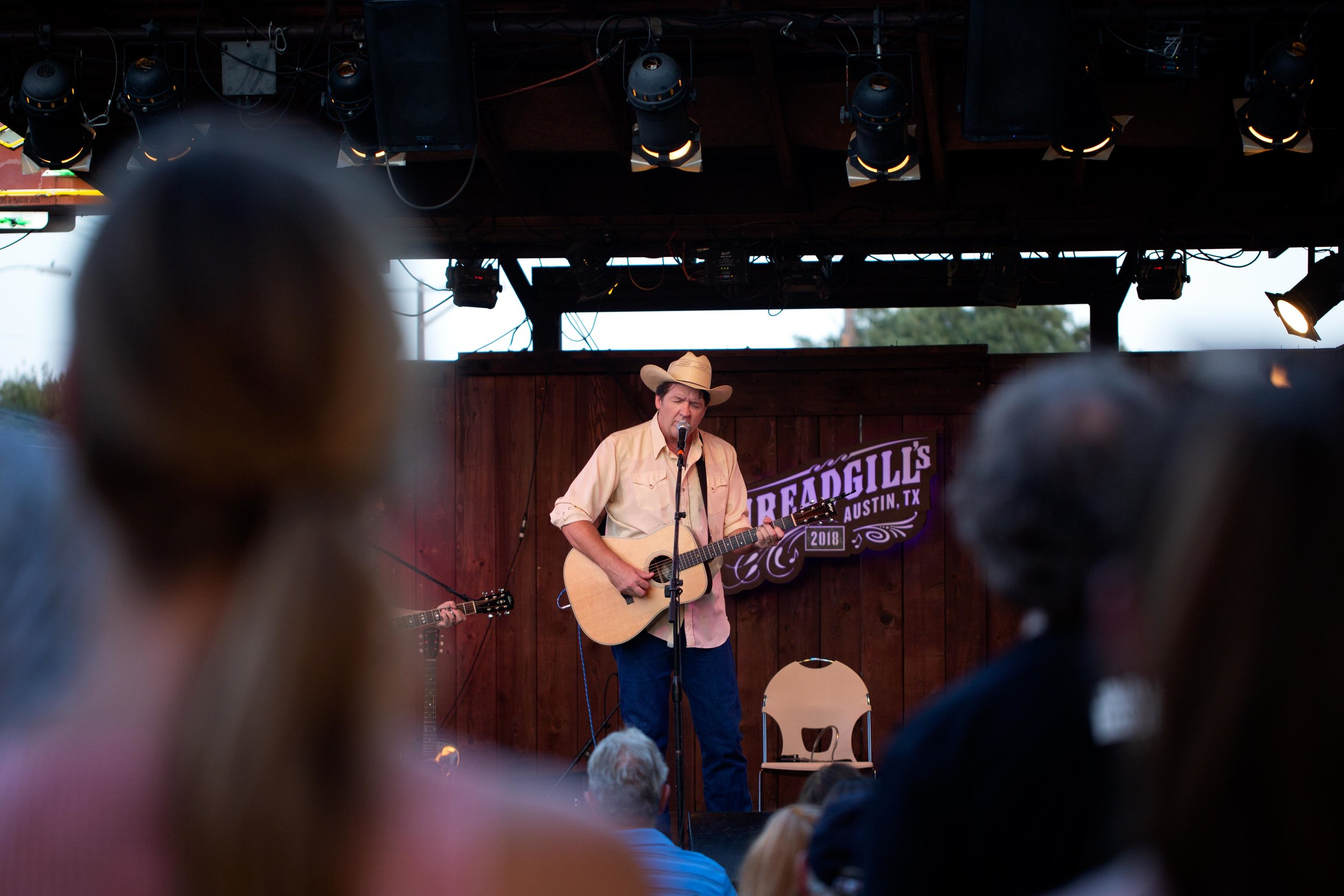AUSTIN, TX. July 20, 2018. Bruce Robison performs at the KUTX Back to the Garden concert series at Threadgill's World HQ. Montinique Monroe for KUTX