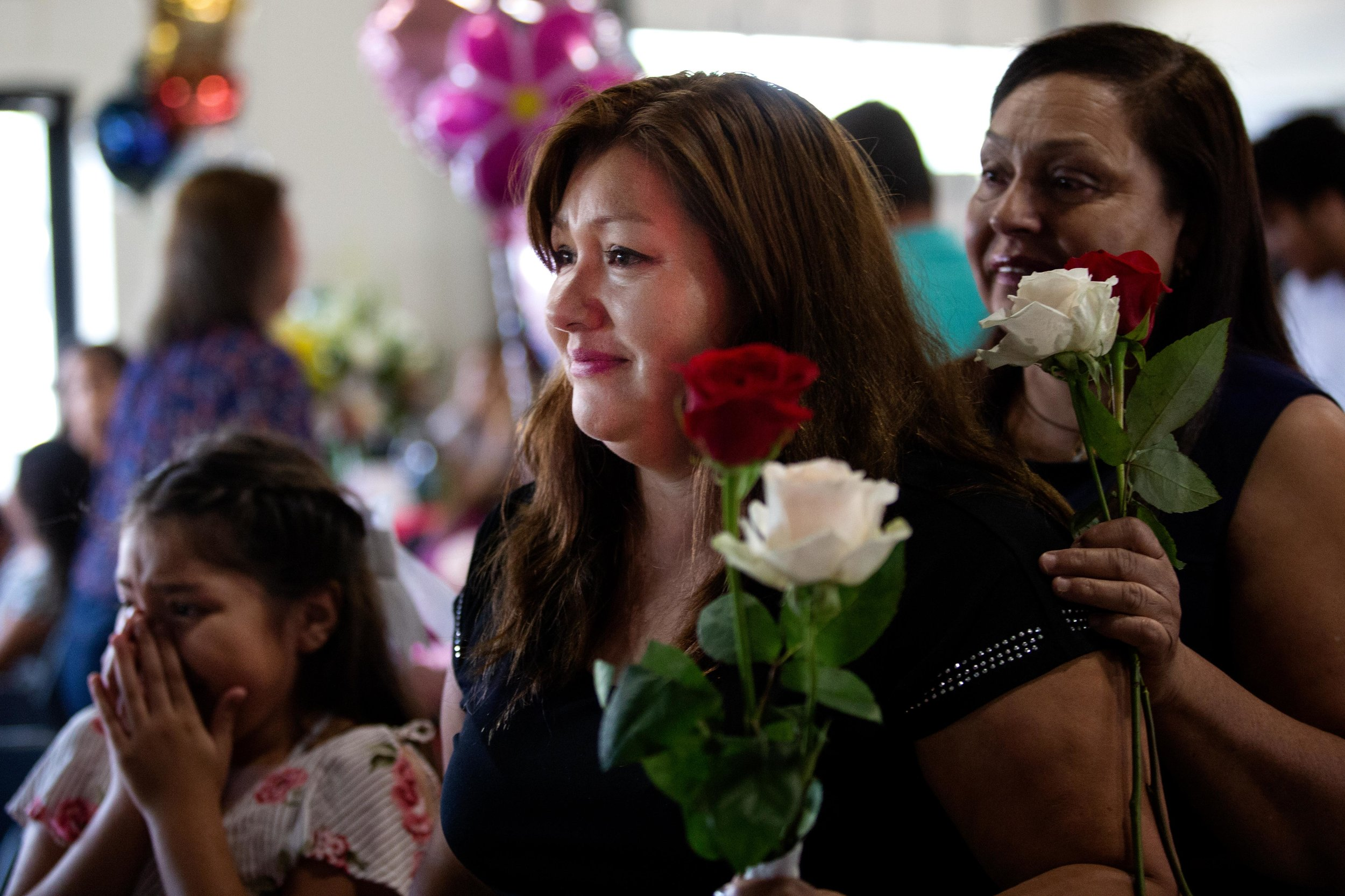ROUND ROCK, TX. August 10, 2018. Maria Garcia waits to be reunited with her mom, whom she has not seen in over a decade. Montinique Monroe for KUT News