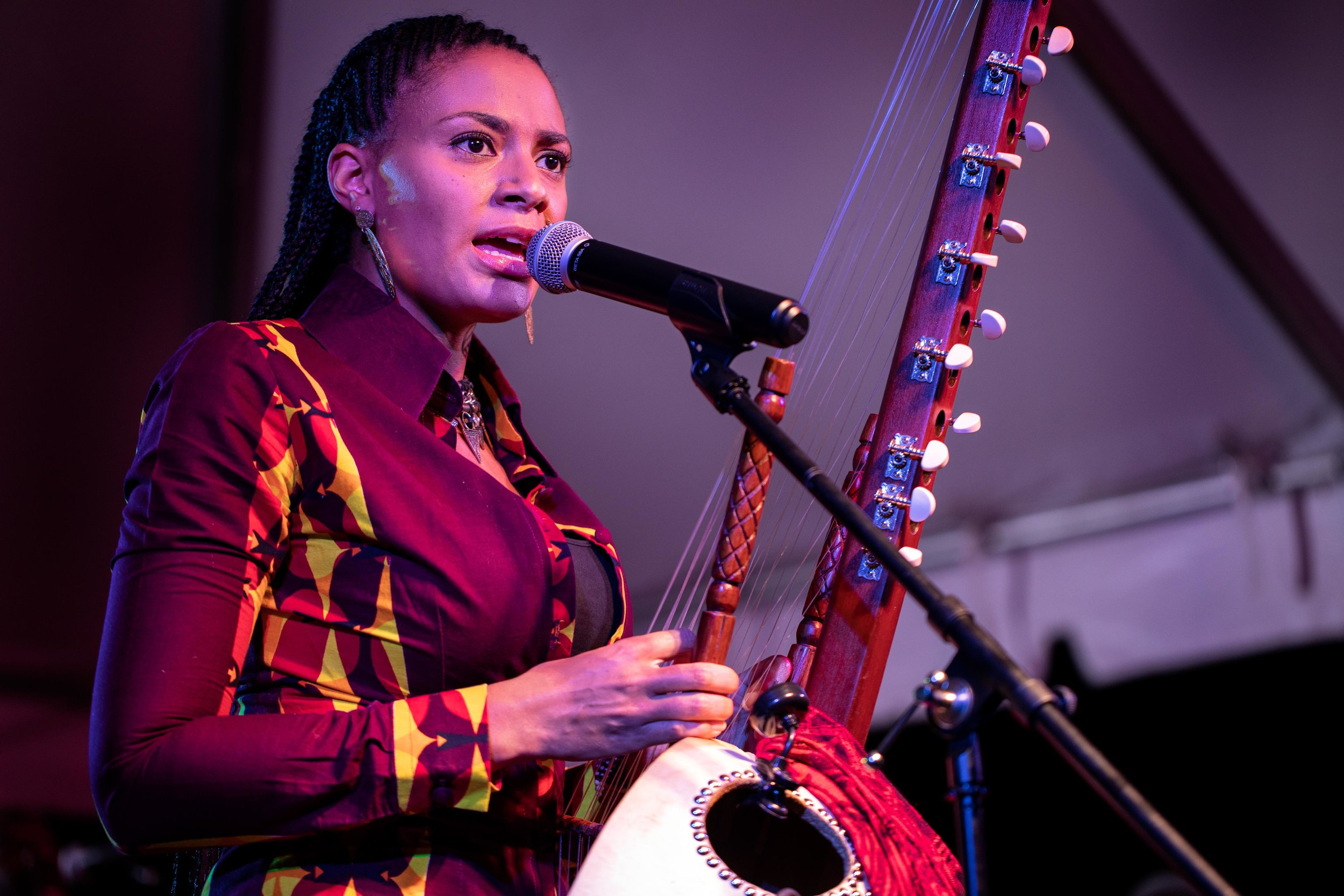 Sona Jobarteh performs during the District Cultural Arts Festival at Hutson Tillotson University on Sept. 1, 2018.
