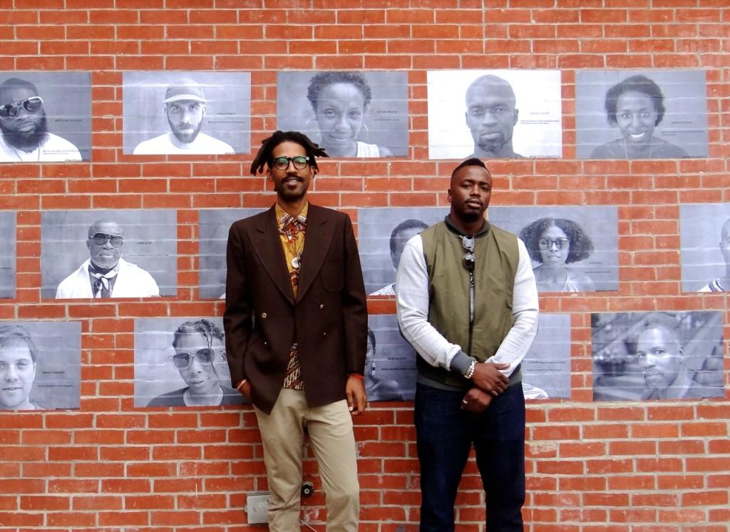 (L) Kwesi Abbensetts, (R) Rasu Jilani                                                       Photo by Zawadi Morris