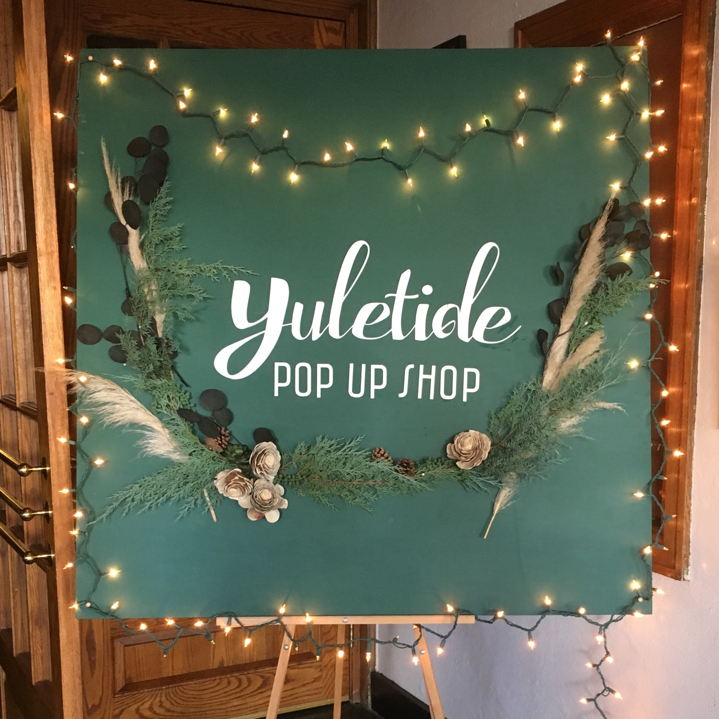 We had so much fun at the Yuletide Pop Up Shop held at The New Southern Hotel today! How perfect is Lisa Garner's beautiful hand made sign!? Lisa's hand dyed selection of personal accessories are to dye for! Thank you so much to the team at Yuletide for making our community a destination this weekend! Going on November 26th and 27th!