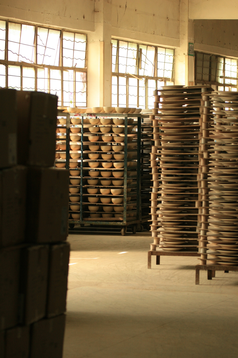 Ceramic Factory in China where Alexandra was designing for Target Home