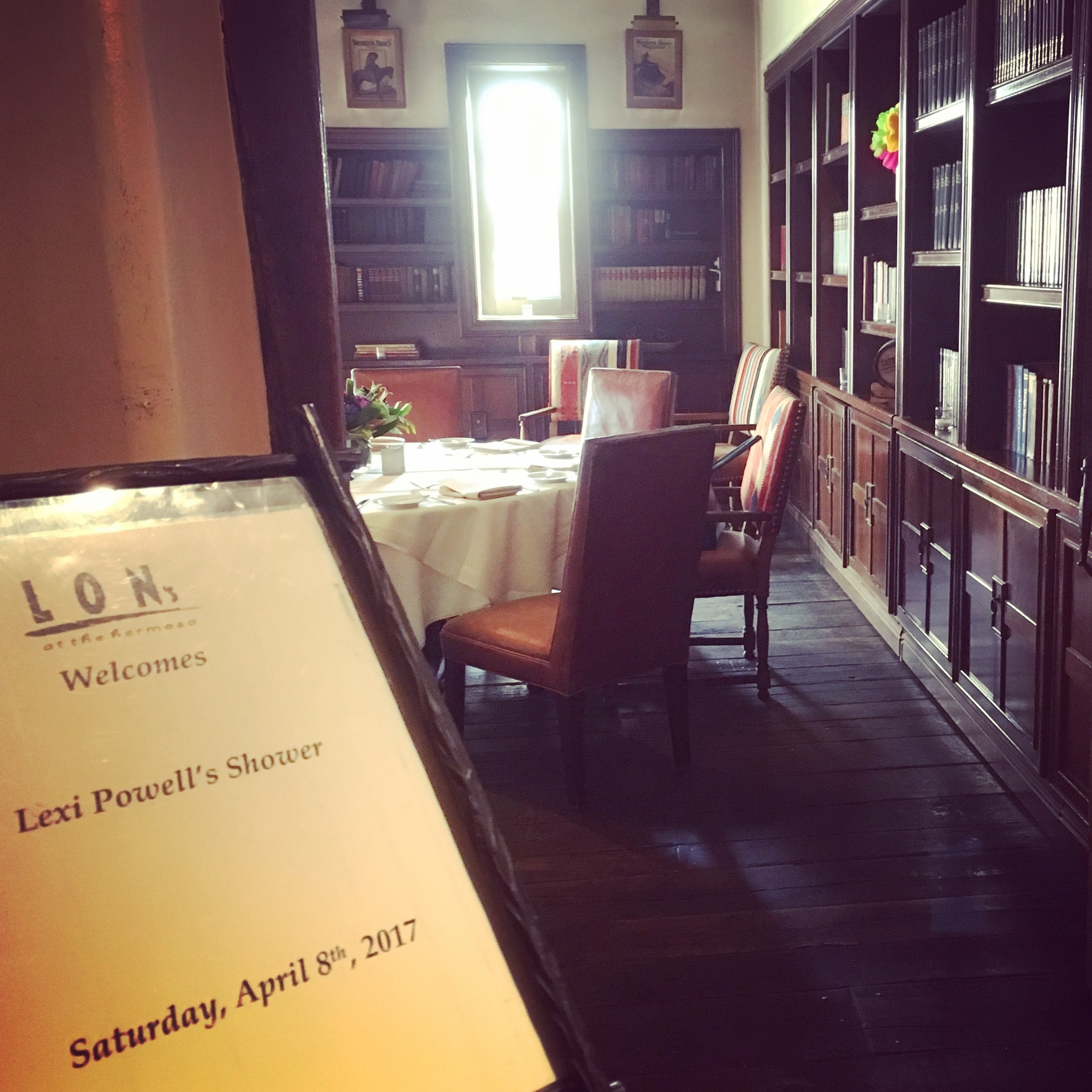 The Library Room, at Lon's at the Hermosa Inn, Scottsdale Arizona