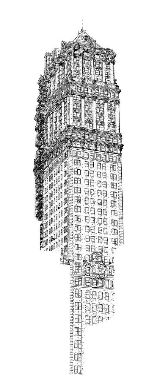 Book Tower Drawing