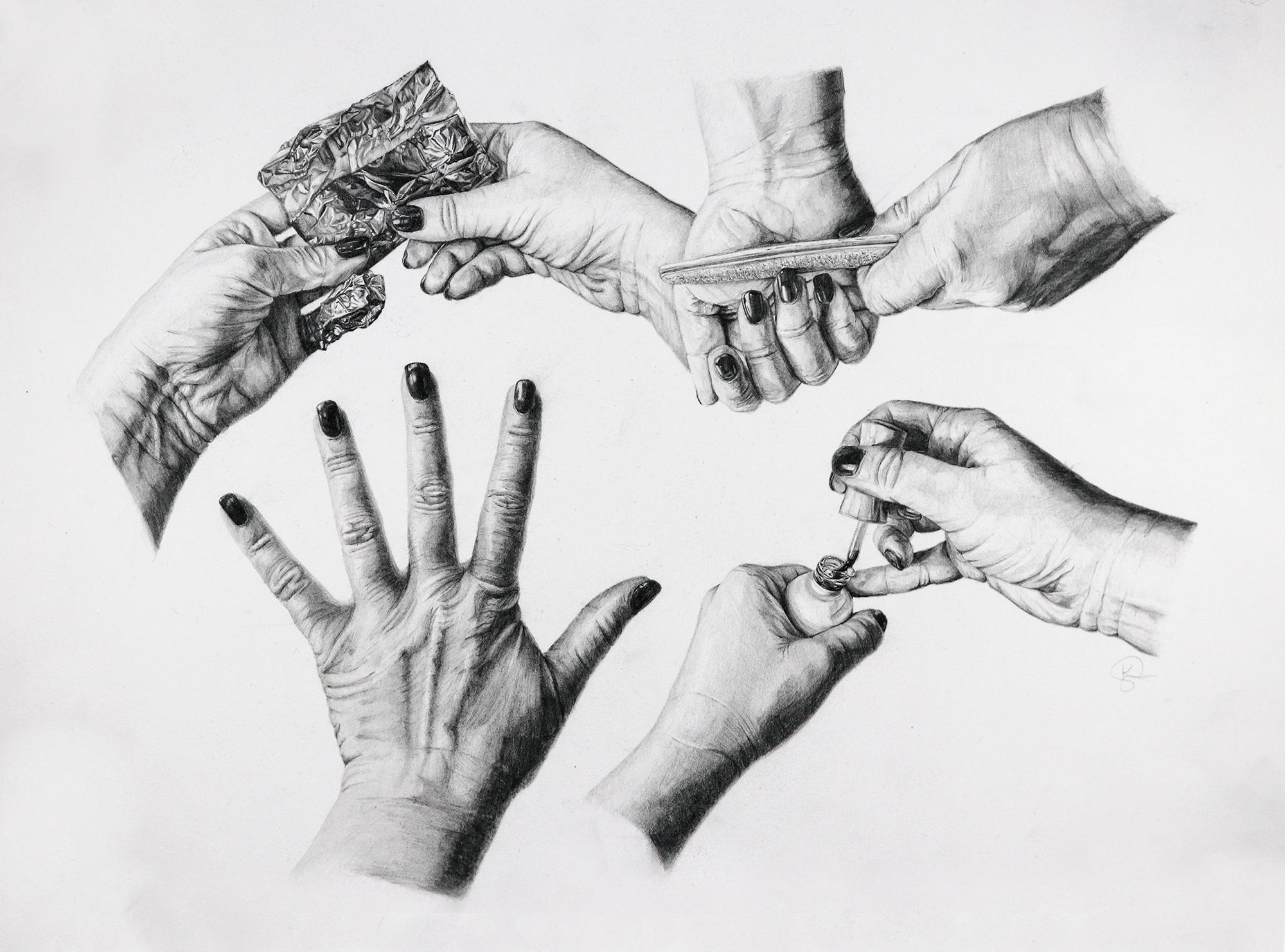 Graphite Hand Study
