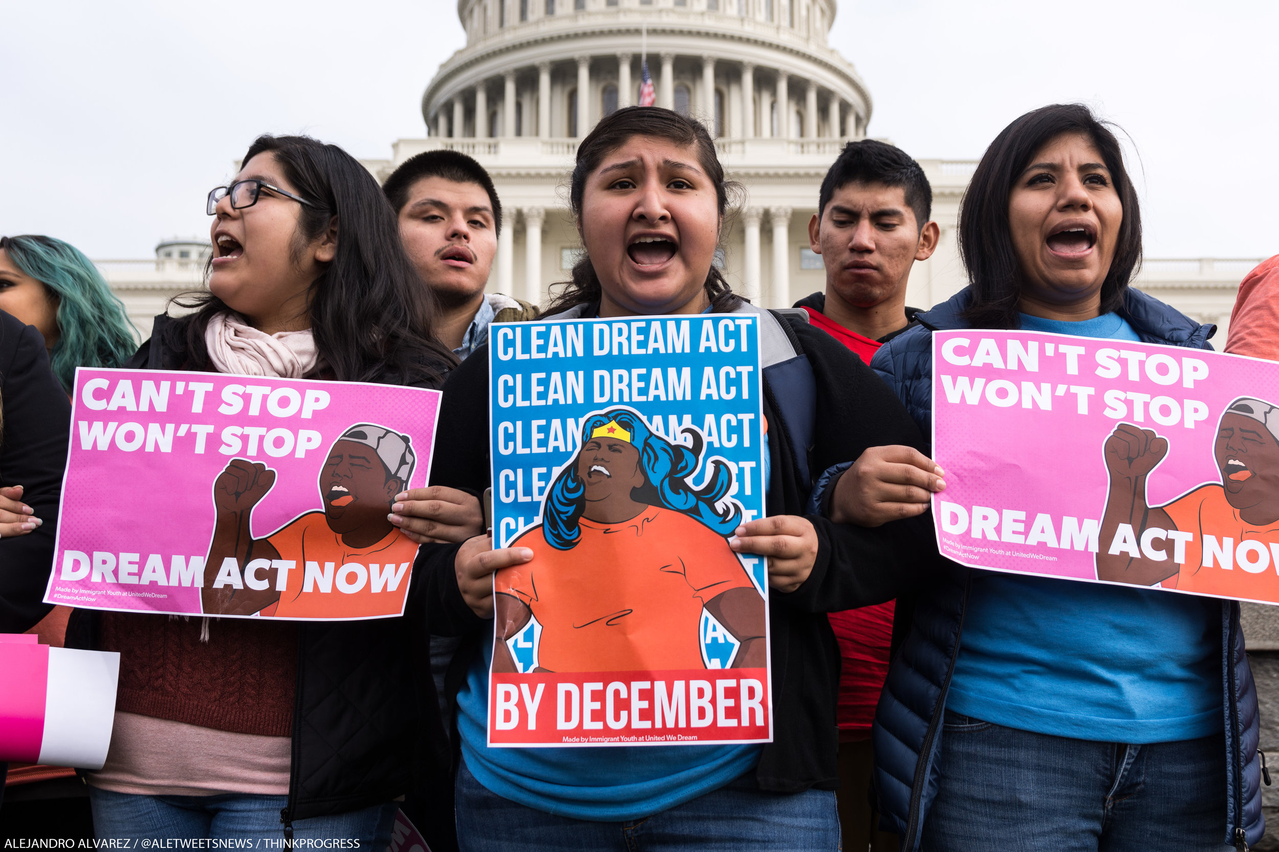 DREAMers marched to the west front of the Capitol, where they demanded Ryan put the DREAM Act to a vote.