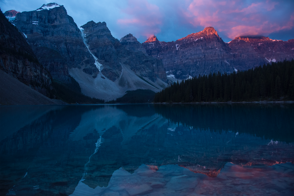 Take one look at Moraine Lake and you see what all the fuss is about. (Banff National Park, AB)