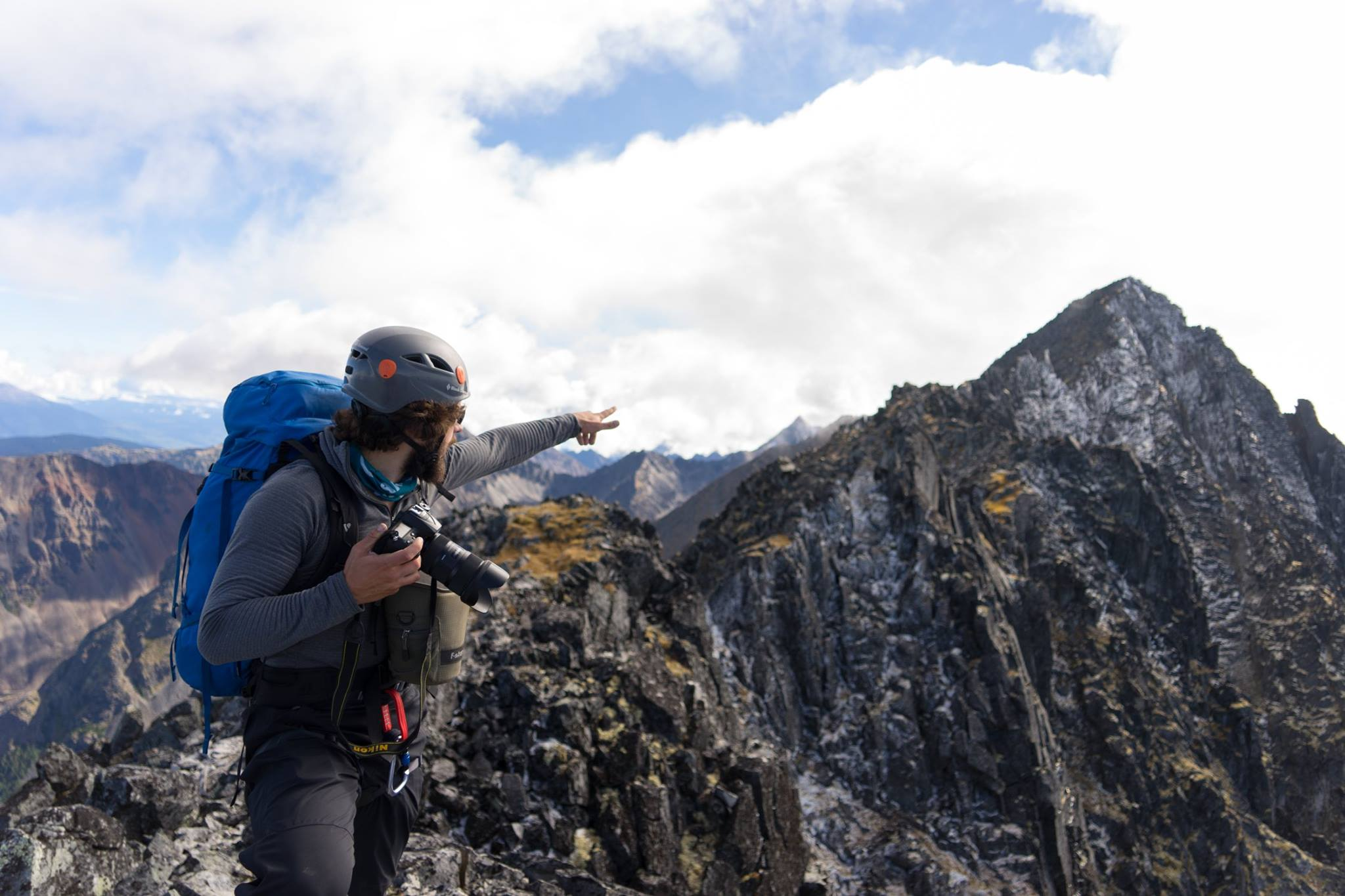 WORK... and play. But isn't that the best kind of work? (Photo: Cameron Coppock.Hazelton Mountains, British Columbia)