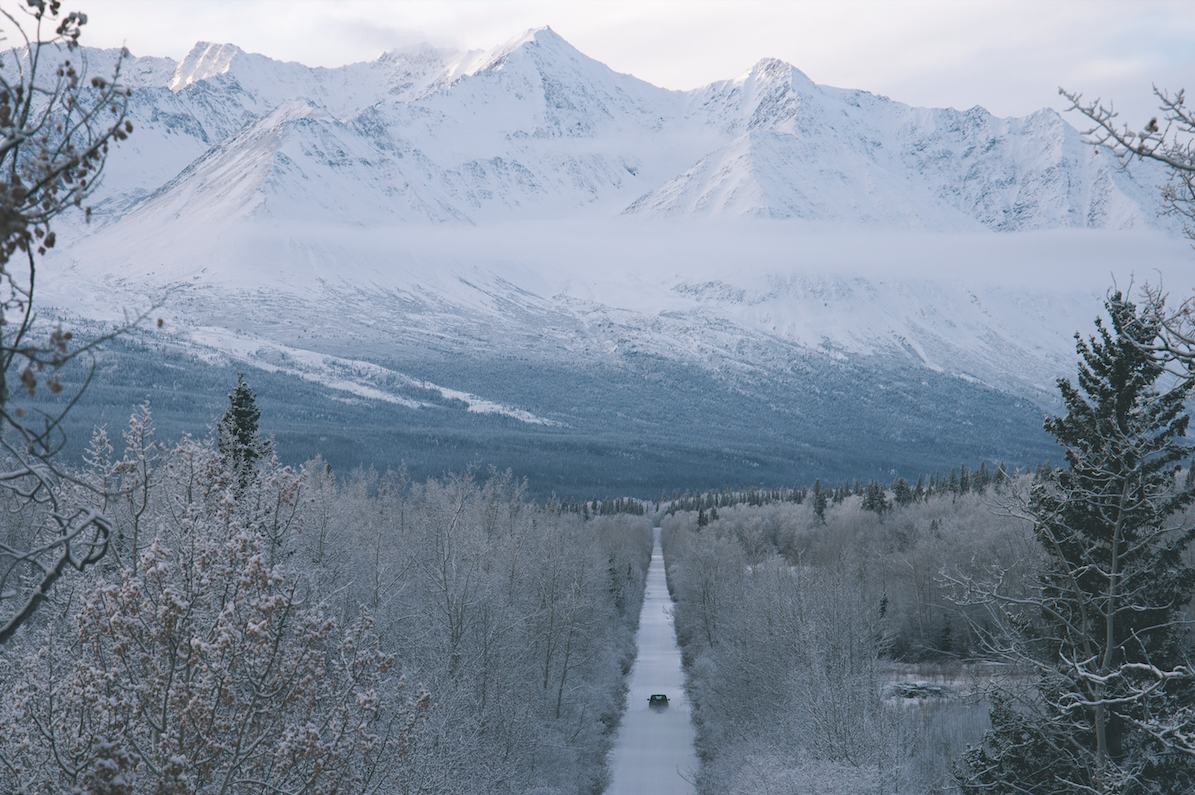 Towering mountains and long dirt roads feel more like home than a city ever will. ( Haines Jct., Yukon Territory )