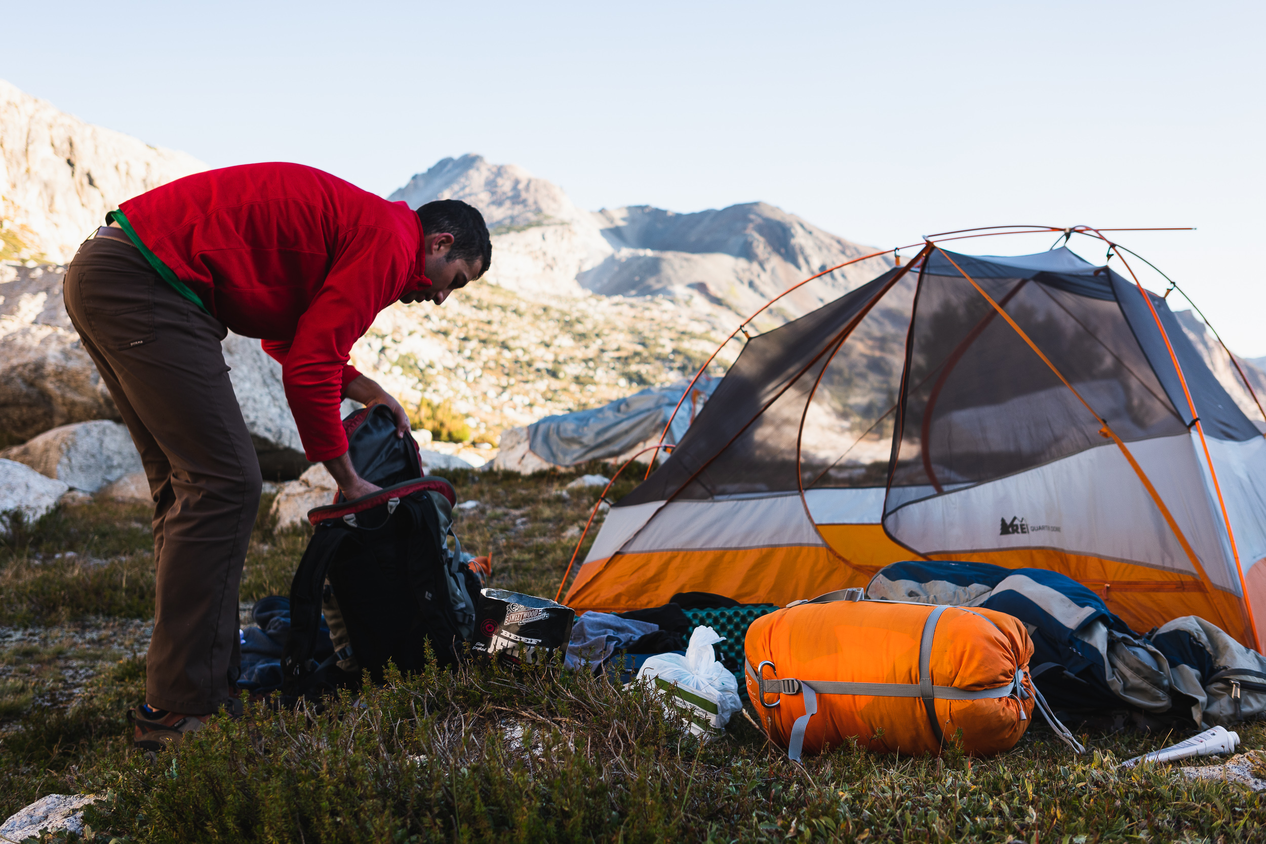 Ultra Heavyweight 101: - Step 1: Haul as much food, drink and excess comfort into the backcountry as you can.Step 2: Enjoy.
