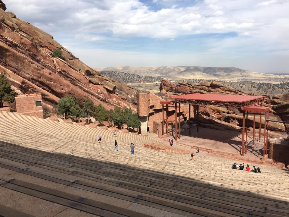 View of the Amphitheater at Red Rocks.