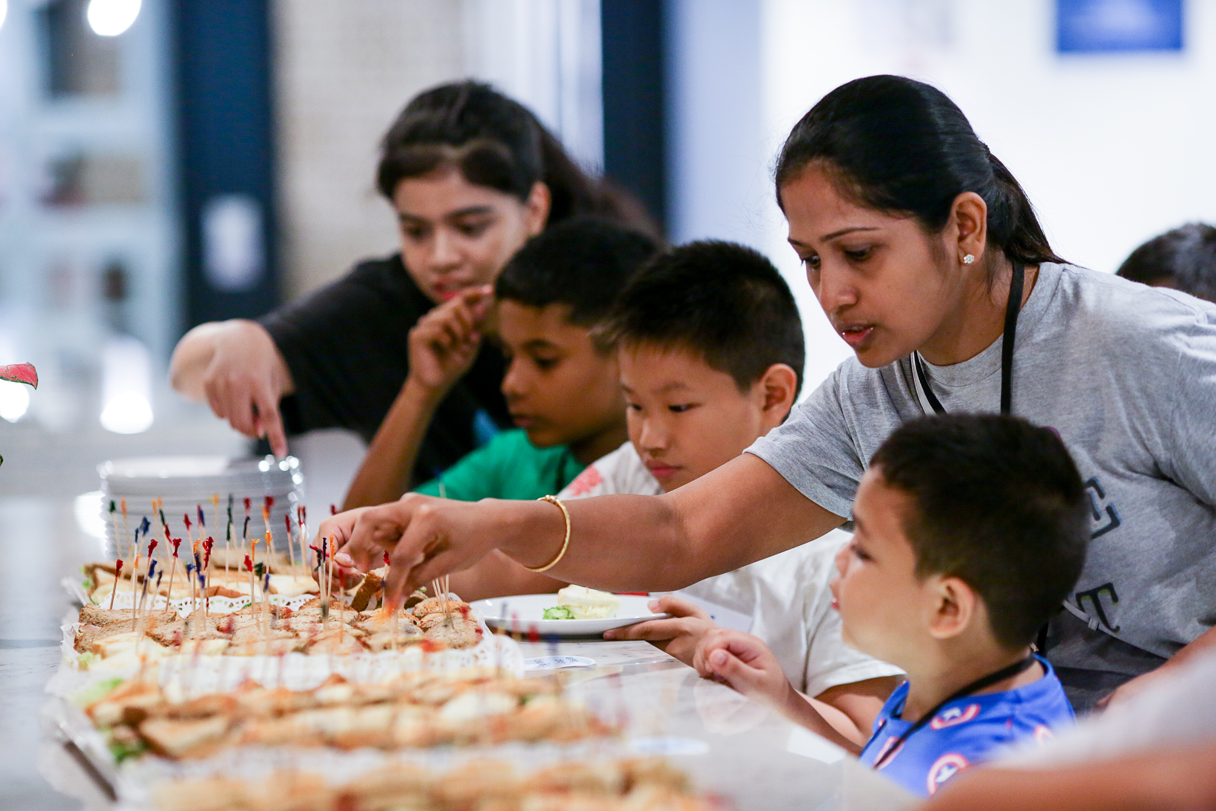 Fresh food, fruit and monthly birthday cakes are provided in abundance!