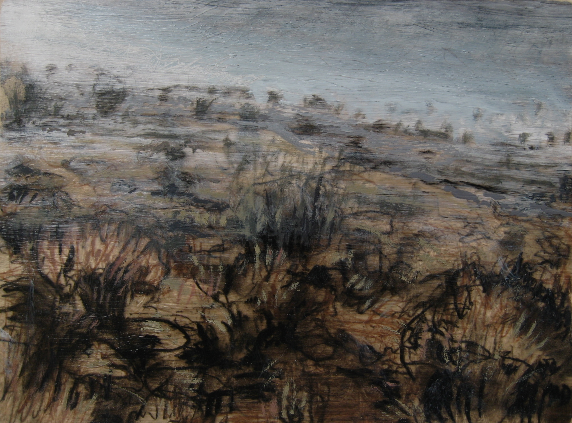 """High Country Fog #2, 11"""" X 14"""", SOLD"""