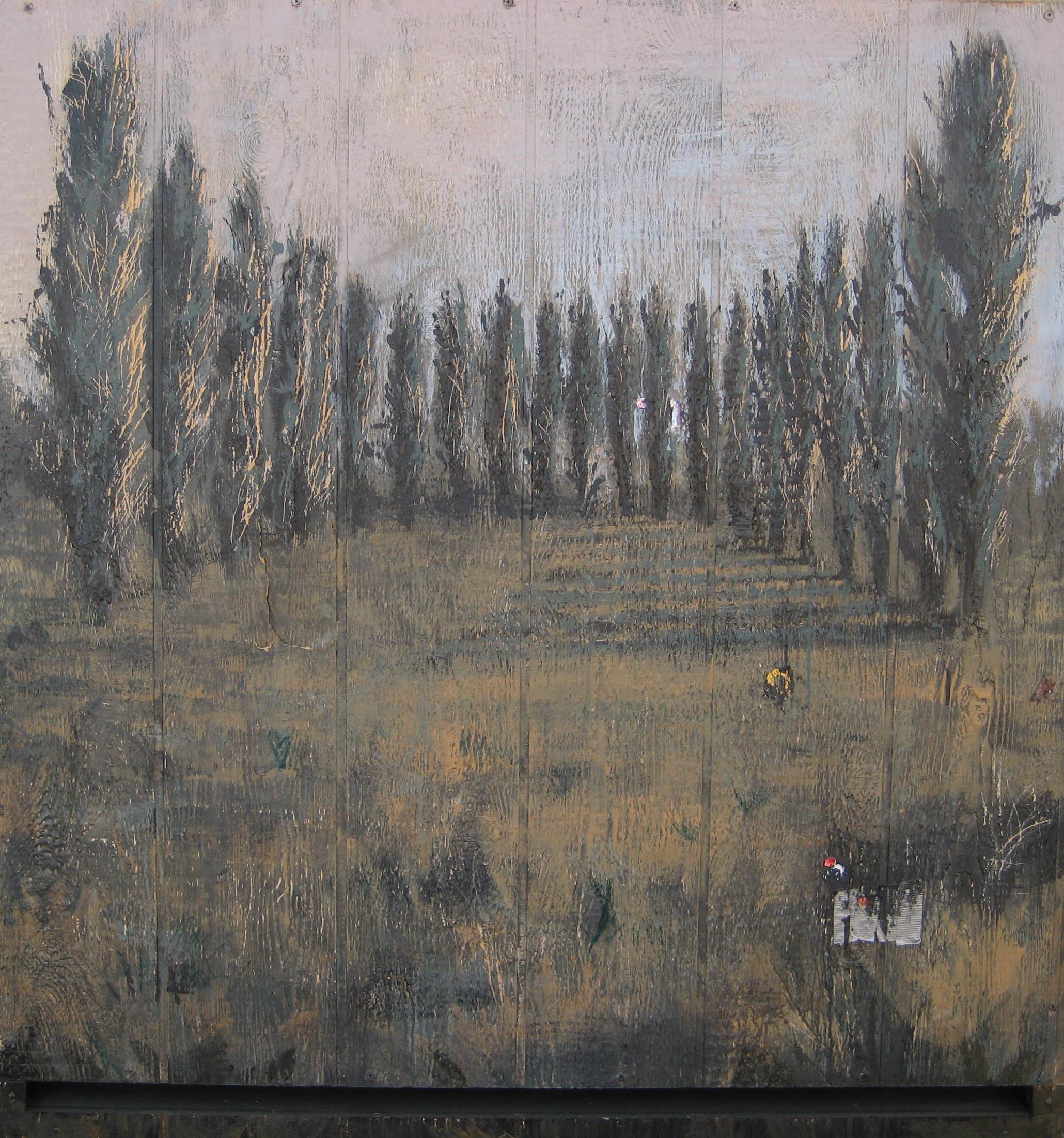 """Poplar Altar, 48"""" X 52"""", 2008, SOLD"""