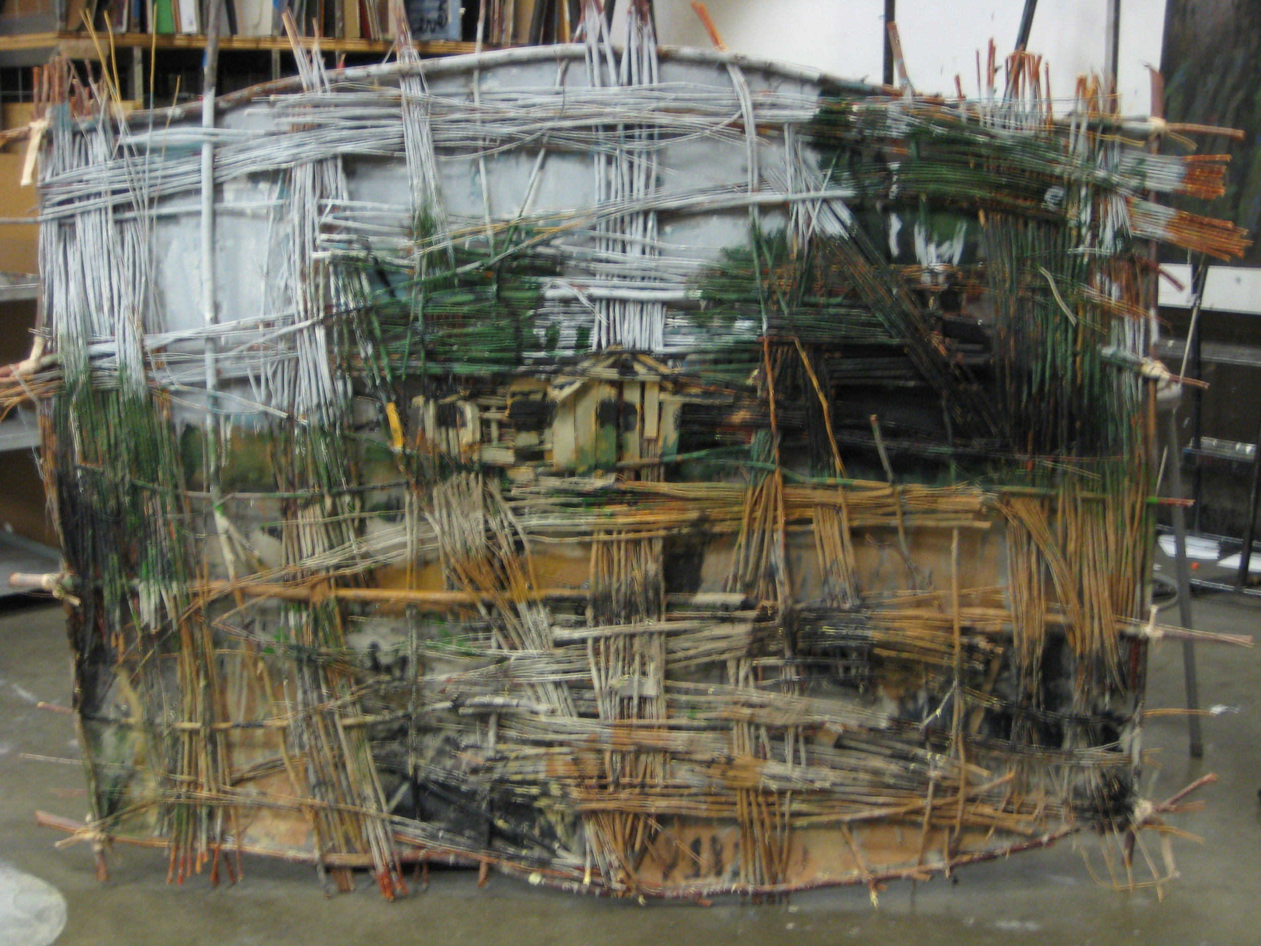 """Tamarisk and Willow and Loss, 48"""" X 72"""", 2008"""