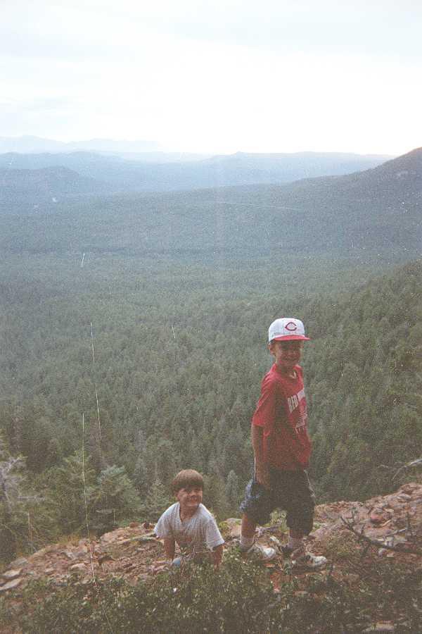 Exploring the Mogollon Rim, Arizona      circa 95ish
