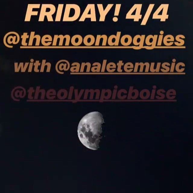 Boise friends! I have returned from a 16 day tour and will be playing a special opening set for @themoondoggies this Friday! Come hang out and hear my tour stories!