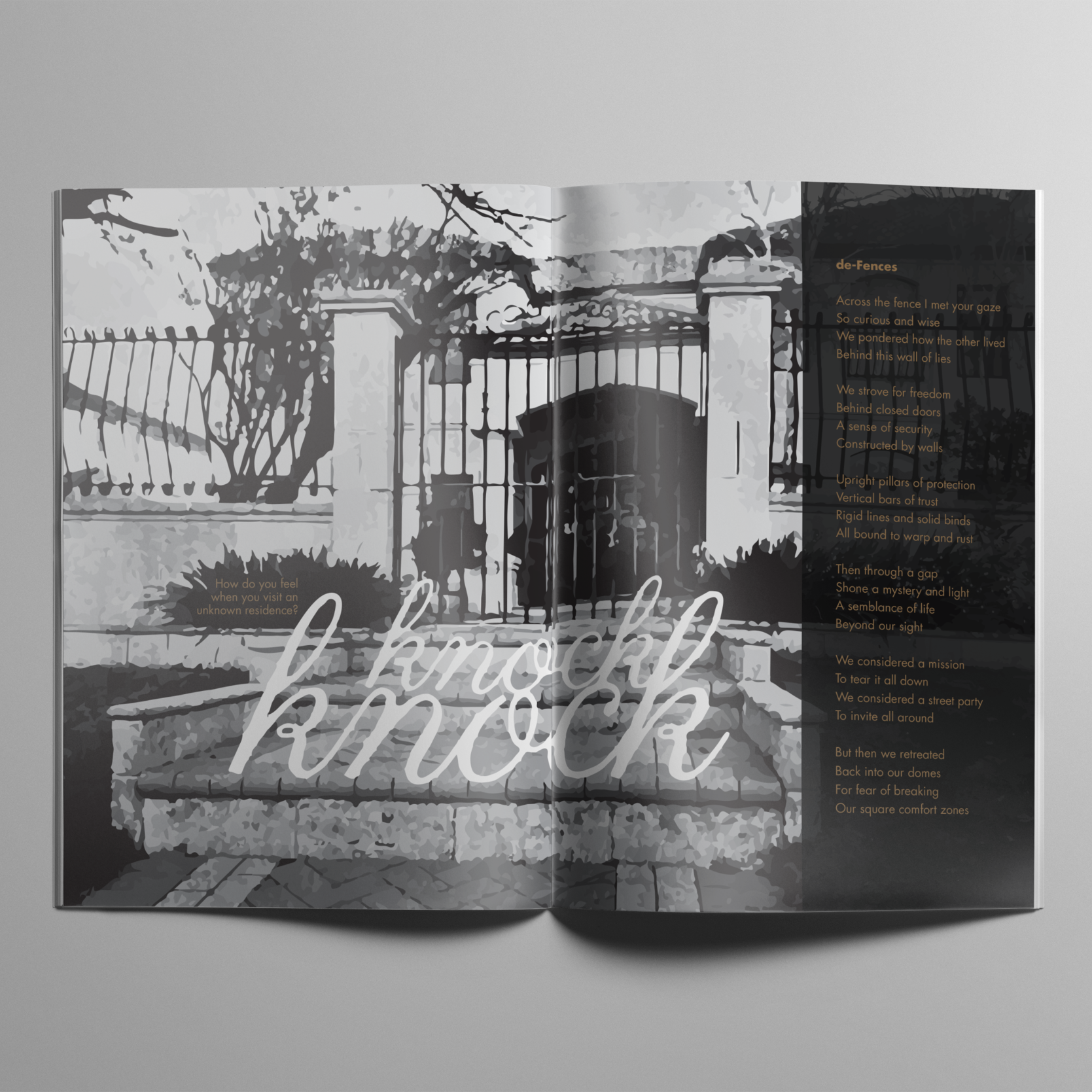 FENCES  [PUBLICATION DESIGN / DIGITAL & ANALOGUE PRINTING]