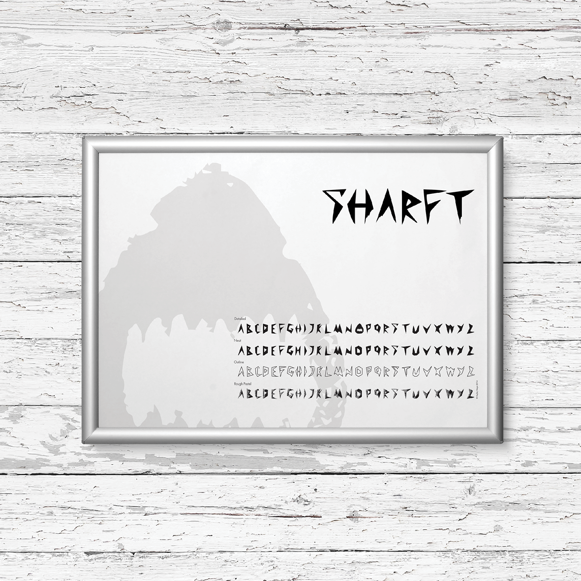 SHARFT   [TYPEFACE DESIGN / ECO CAMPAIGN}