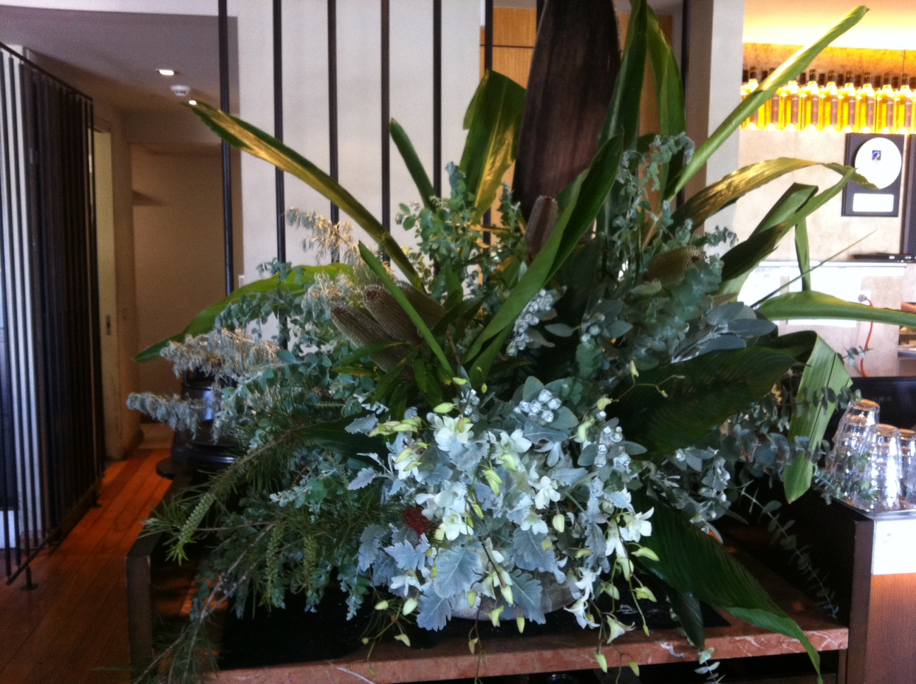 Large Floral display on the inside counter.JPG