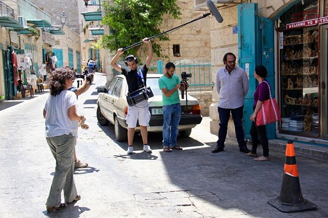 """Bethlehem #filming #thegoldenharvestfilm thank you for the story @myoliveroots see link in profile —written by Canadian writer which is cool when film is at #hotdocs19 market under """"hotdocs recommends"""" in #canada with @arts_and_seeds @fadi.f.kattan . . . . #oliveoil #olivetrees #palestine #grrece #spain #italy #palestinefood #arabamerican #toronto #filmmaker #femaledirectors #documentary #documentaries"""
