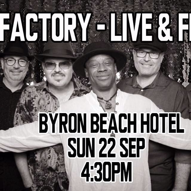 This Sunday 4:30pm at the Byron Beach Hotel, let's dance!