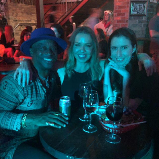 Meeting the locals between sets #band #Brisbane #Brooklyn standard #live music #brisbanelivemusic #whiskeybar #bluesmusic #sailorjerry
