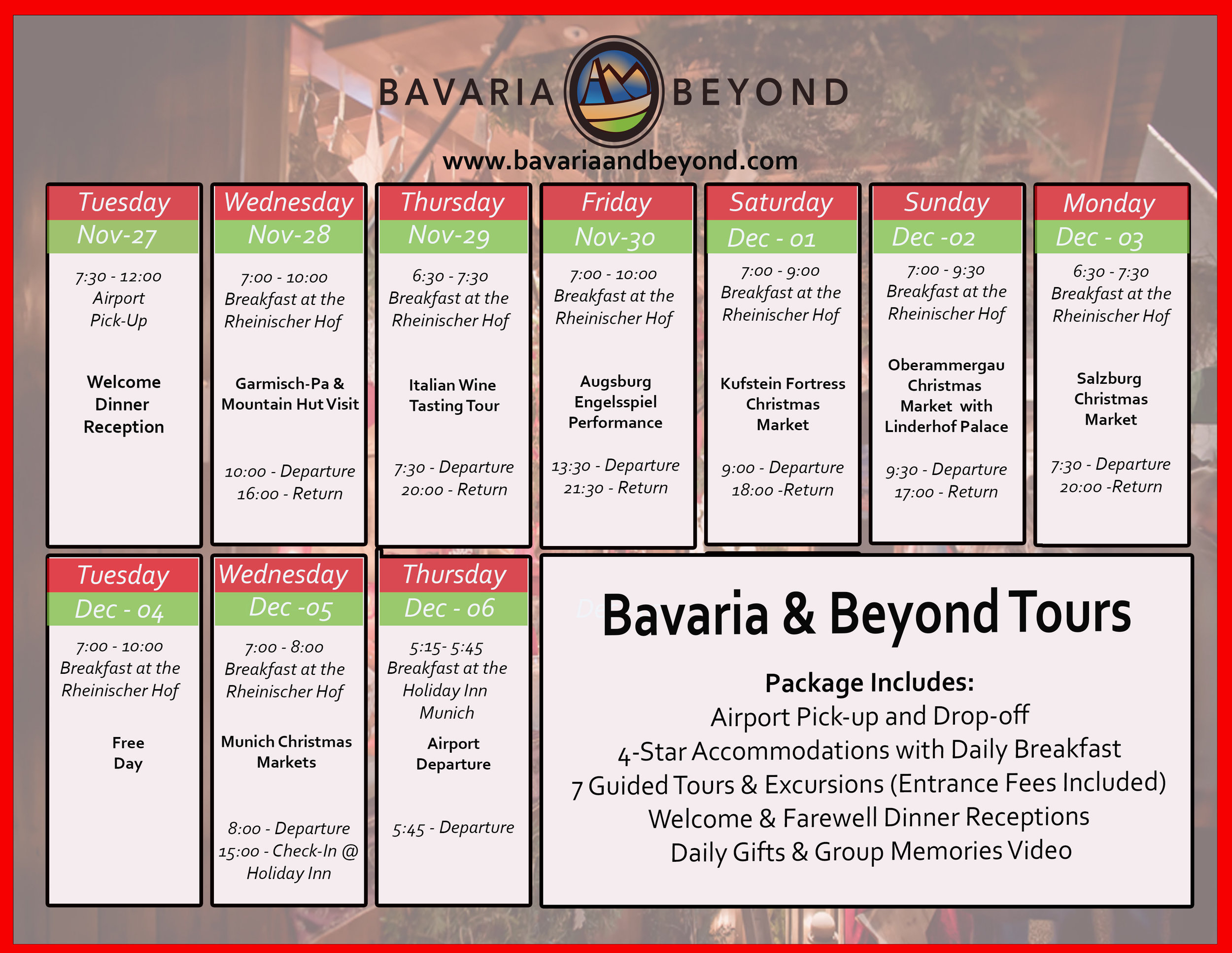 CLICK ON THE ABOVE ITINERARY TO PRINT