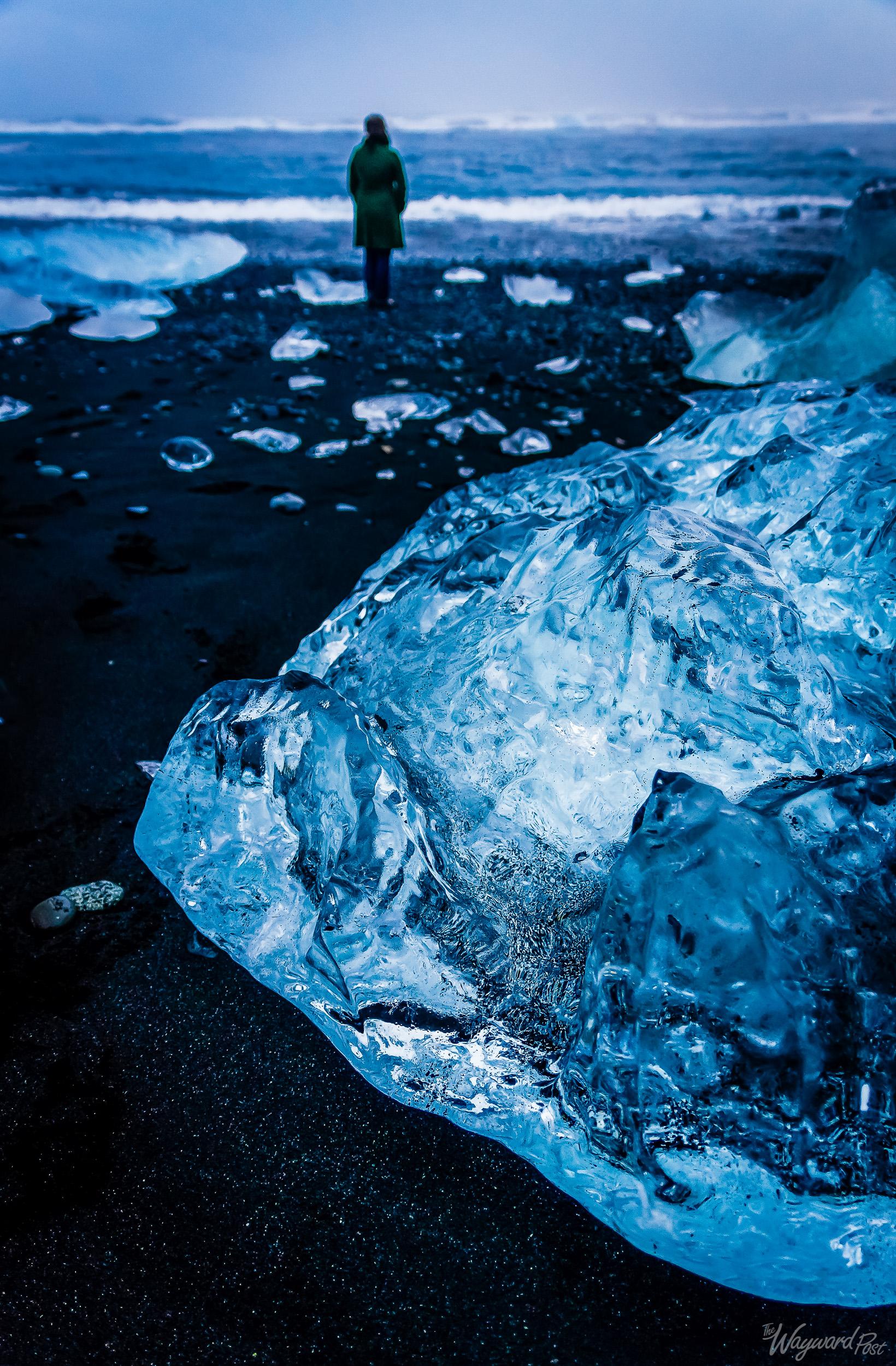 Iceberg, Glacier, Ice, Lake, Sea, Ocean, Woman, Iceland, The Wayward Post
