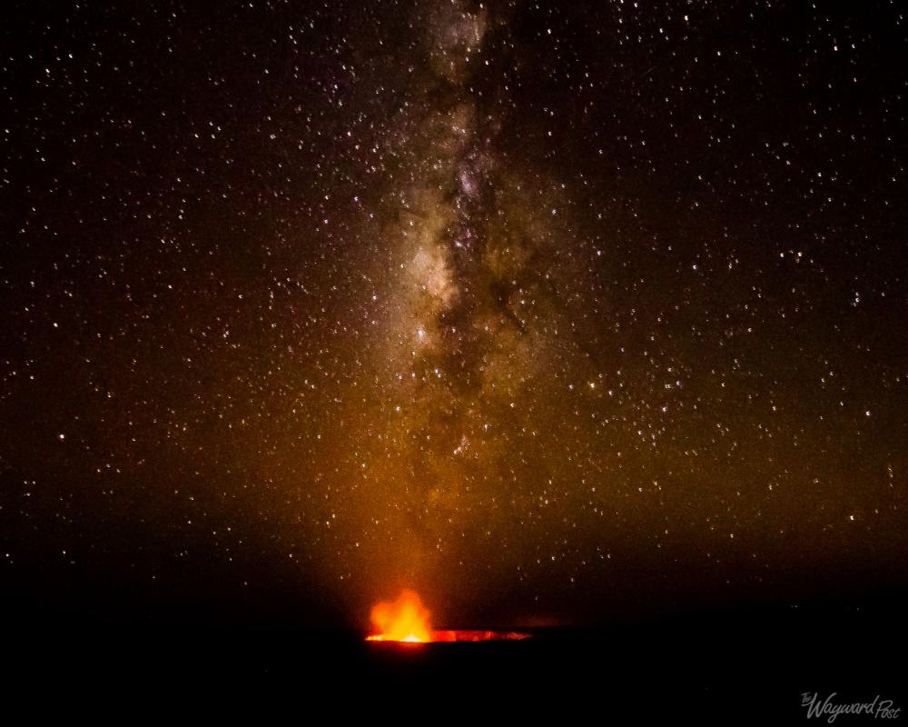 Milky Way over Kilauea Caldera, Volcanoes National Park, Hawaii