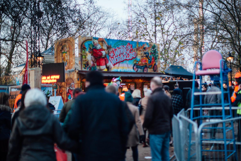 Winter Wonderland entrance on the opening weekend.