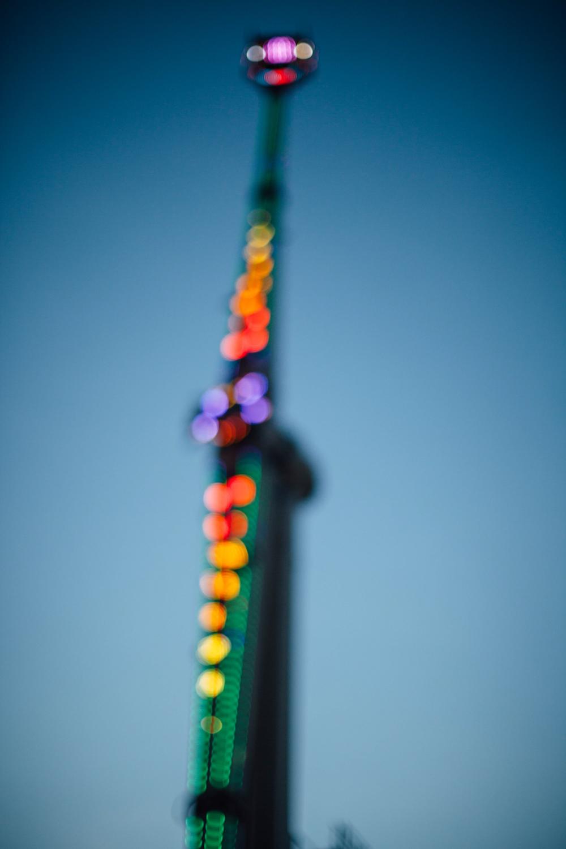 Christmas ride lights.