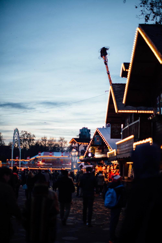 Christmas market in Winter Wonderland.