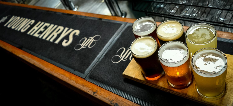 6 Pints at Young Henrys, Sydney. Photo by Julia Reynolds.