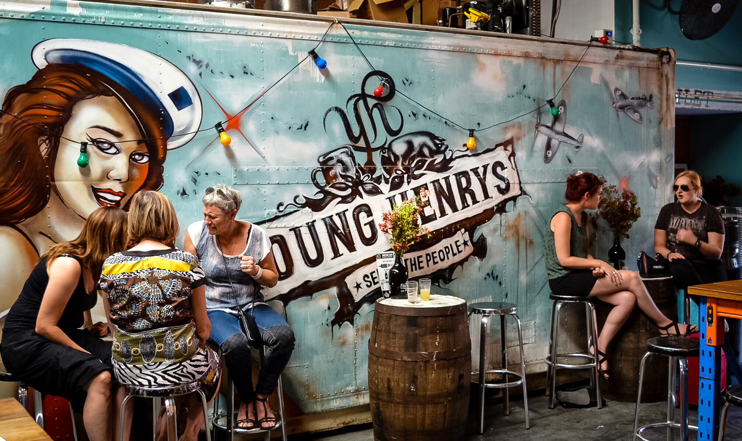 Young Henrys outdoor seating. Photo by Julia Reynolds.