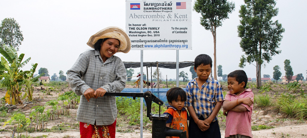 Abercrombie & Kent Philanthropy - Well in Cambodia.